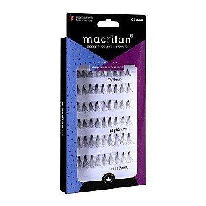 Cílios postiços em tufo CT100A - Macrilan