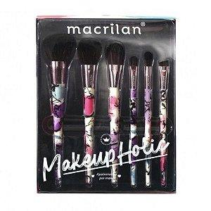 Kit de pincéis Makeupholic ED008 - Macrilan