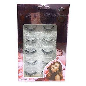Caixa 5 cílios postiços Autocolantes F026 - Sabrina Sato