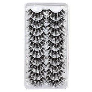Caixa 10 pares de cílios postiços 3D106