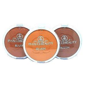 Kit com 3 blushes compactos - Phállebeauty