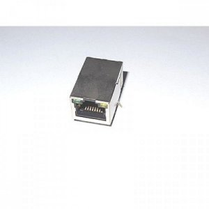 Conector RJ45 blindado c/ Leds e transformador integrado
