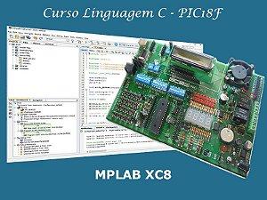 Curso XC8 Mód. I (PIC18F) + Kit ACEPIC PRO V5.1 + Gravador ACE USB Mini
