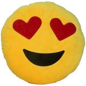Almofada Emoticon Emoji Oficial Antialérgica Apaixonado 33cm