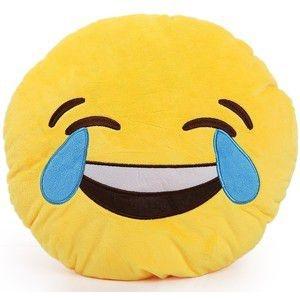 Almofada Emoticon Emoji Oficial Antialérgica Chorando De Rir 33cm