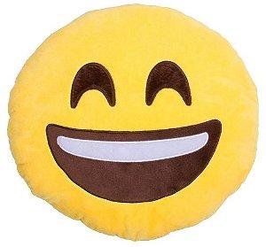 Almofada Emoticon Emoji Oficial Antialérgica Rindo a Toa 33cm