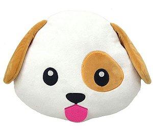 Almofada Emoticon Emoji Oficial Antialérgica Cãozinho 33cm