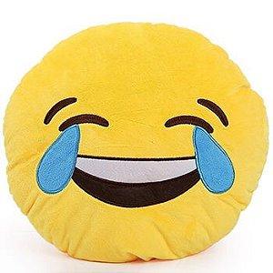 Kit 3 Almofadas Emoji Linguao + Chorar de Rir + Rindo a Toa 33cm