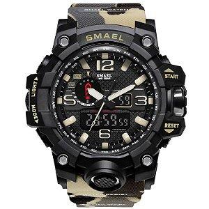 Relógio Masculino Militar G-Shock Camuflado Exercito Delta Smael 1545