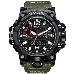 Relógio Masculino Verde Smael G-SHOCK Militar Prova D'água