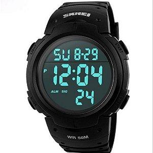 Relógio Masculino Esporte Digital Cronometro Prova Dágua Skmei 1068 Preto