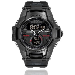 Relógio Masculino G-Shock Smael 1805 Militar Sport Anti-Shock Dual-Time Black Ops