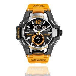 Relógio Masculino G-Shock Smael 1805 Militar Sport Anti-Shock Dual-Time Orange