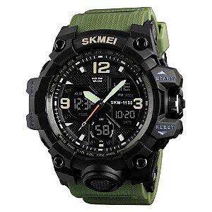 Relógio Masculino Anti-Shock Skmei 1155 Digital Esporte Verde