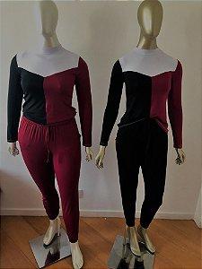 Conjunto Calça e Blusa Malha