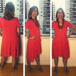Vestido Bolso Externo Malha