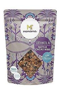 Granola Monama Nuts e Nibs de Cacau Saudável S/Glúten 200g