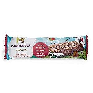 Barrinha de Cereal Orgânica Monama Saudável - Sabor Açaí, Amora e Goiaba 25g