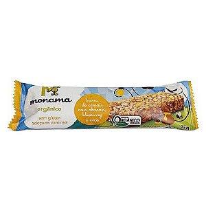 Barrinha de Cereal Orgânica Monama Saudável - Sabor Abacaxi, Blueberry e Coco 25g