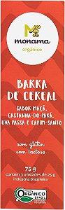 Tripack Barra de Cereal Monama sabor Castanha - 03 unidades de 25g - Sem Glúten