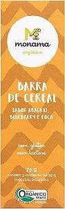 Barrinha Orgânica Monama Saudável - Sabor Abacaxi, Blueberry e Coco - 3 unidades de 25g