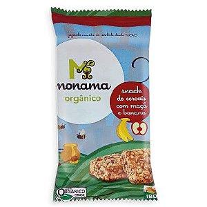 Snack Monama Orgânico Saudável Sem Glúten Maçã e Banana 30g