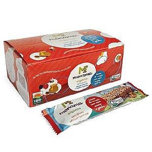 Barrinha de Cereal Orgânica Monama Saudável - Sabor Açaí, Amora e Goiaba - 12 unidades de 25g