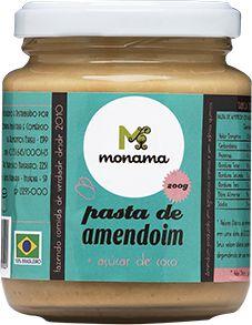 Pasta de Amendoim Monama Saudável Açúcar de Coco 200g