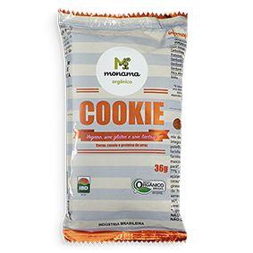 Cookie Cacau e Canela Sem Glúten Orgânico Monama 36g