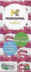 Chocolate 60% Castanhas e Frutas Vermelhas Monama Vegano Orgânico 60g