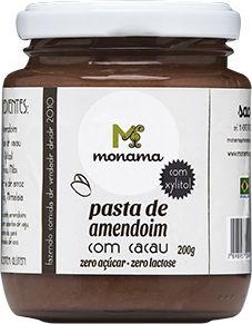 Pasta de Amendoim com Cacau Monama Sem Açúcar 200g