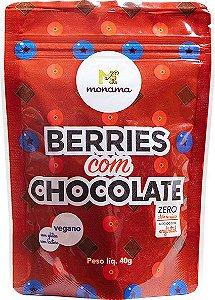 Snack de Berries com Chocolate 80% Monama Sem Açúcar Vegano 40g