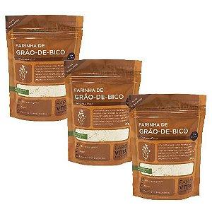 Kit 3 Farinhas de Grão- de- Bico