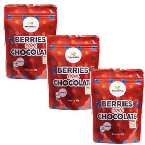 Kit 3 Berries com Chocolate