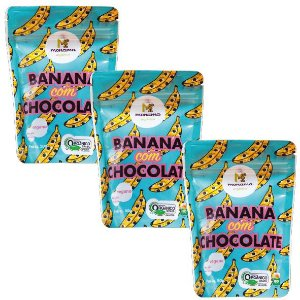 Kit 3 Bananas com Chocolate