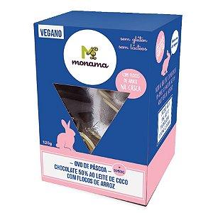 Ovo de Páscoa Chocolate 50% com Flocos de arroz 120g
