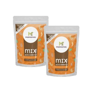 Kit 2 Snack Mix Nuts e Sementes Cebola e Salsa