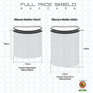 Full Face Shield Adulto