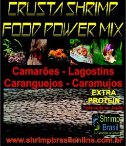 Ração Crusta Shrimp Food Power Mix - Extra Protein