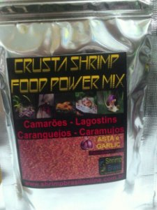 Ração Crusta Shrimp Food Power Mix - Asta Garlic