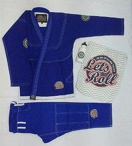 Kimono Trançado Lets Roll New Classic Azul