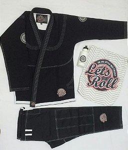 Kimono Trançado Lets Roll New Classic Preto