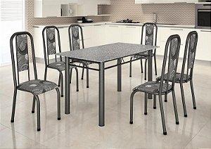 Mesa Madmelos 6 cadeiras 140x76