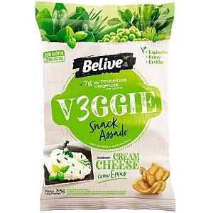 V3ggie snack assado cream cheese com ervas Belive 35g