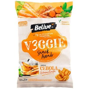 V3ggie snack assado cebola caramelizada Belive 35g