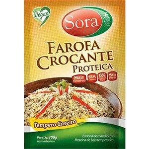 Farofa crocante proteico tempero caseiro Sora 300g