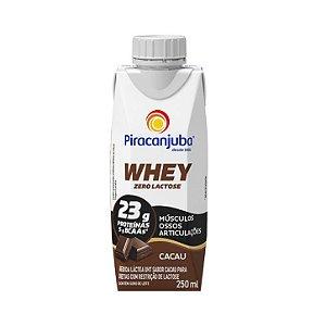 Bebida láctea com whey sabor cacau Piracanjuba 250ml