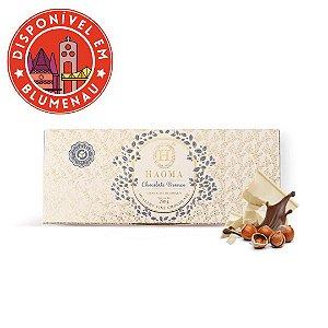 Barra de chocolate branco com recheio avelã Haoma 250g