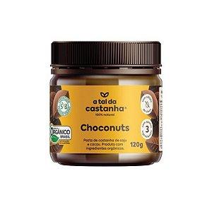 Pasta de castanha orgânica choconuts A tal da castanha 120g