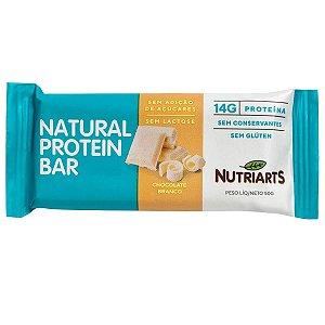 Barra de proteína sabor chocolate branco Nutriarts 50g